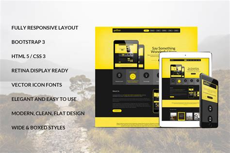 bootstrap theme free yellow yellow bootstrap responsive template bootstrap themes on