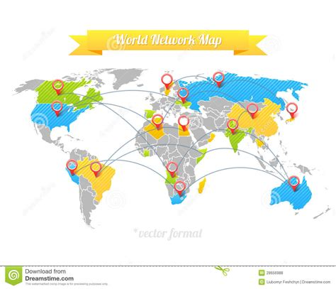 network map free network map royalty free stock photos image 28656988