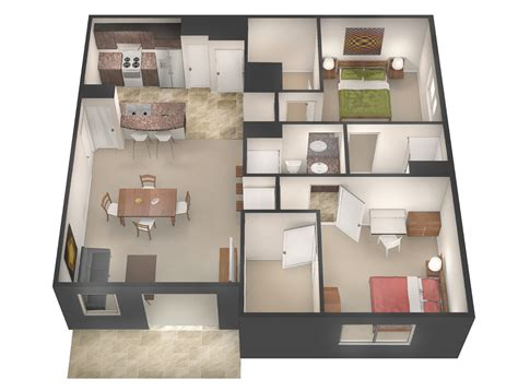 Floor Plans & Rates   University Flats Greeley
