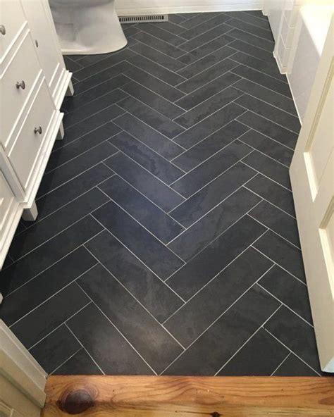 herringbone bathroom floor tile before after melissa s worth the wait bathroom the