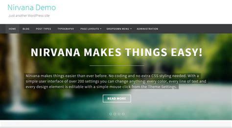 themes wordpress nirvana 100 best free wordpress themes of 2014 noupe