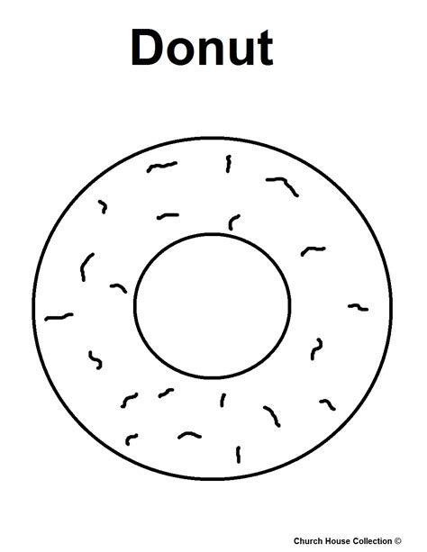 free coloring pages of donut