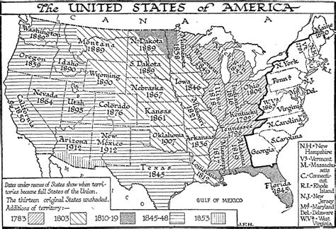 united states in 1783 map the united states of america