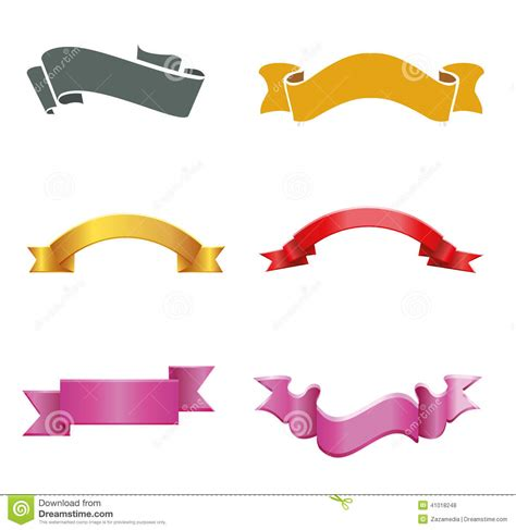 banner label template ribbon banner labels vector free stock vector image