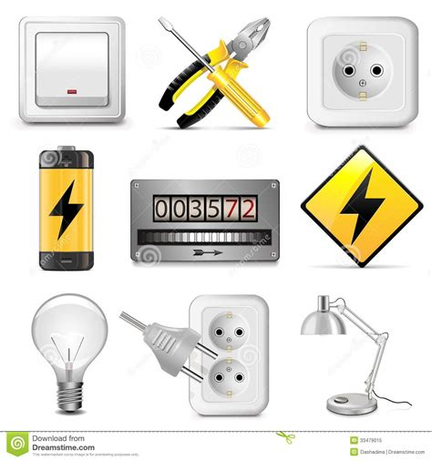 Home Based Design Engineer by Vector Electrical Icons Royalty Free Stock Photo Image