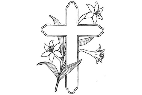 coloring pages of crosses with roses cross coloring pages jpg 720 215 480 crafts pinterest