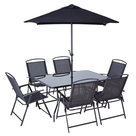 miami patio set 8 garden furniture asda direct home