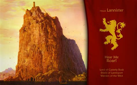 house lannister artwork a song of and casterly rock hear me