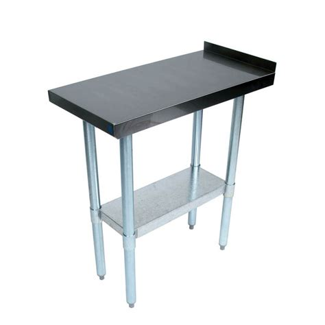 bk resources stainless steel filler work table 18w x 30d x 35h