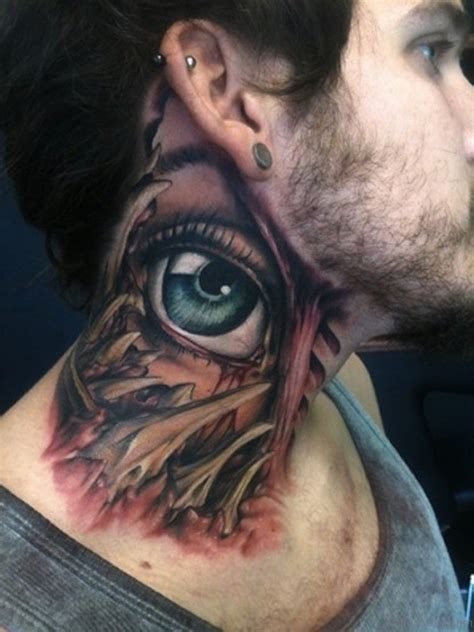 tattoo eye on neck 76 excellent eye tattoos on neck