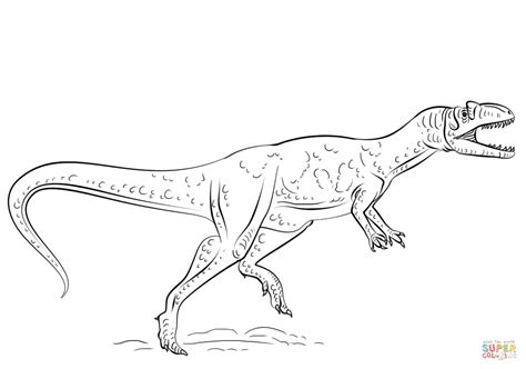 Allosaurus Coloring Pages allosaurus dinosaur coloring page free printable