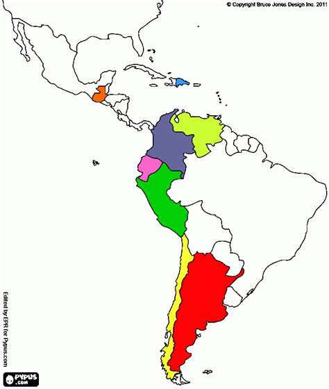 latin america map coloring pages latin america map coloring page