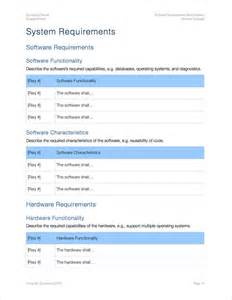 software requirements template software requirements specification apply iworks