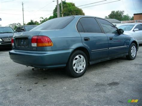 1996 Honda Civic Sedan by 1996 Cyclone Blue Metallic Honda Civic Lx Sedan 60752951