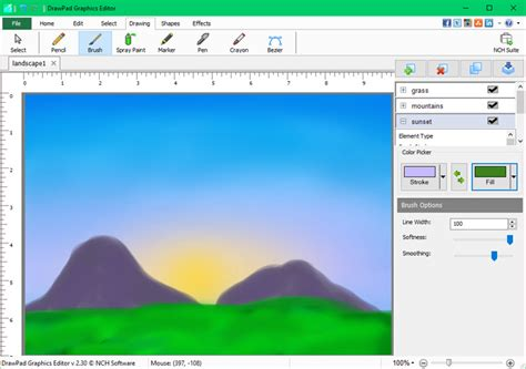 design editor program drawpad graphic editing software screenshots