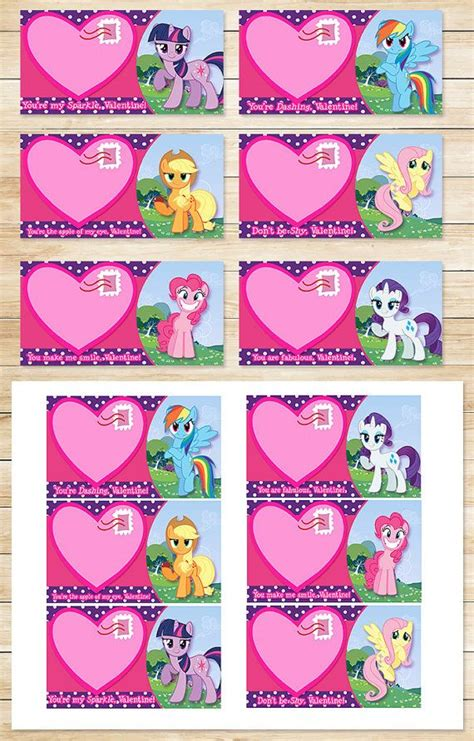 my pony valentines printable my pony s day card by