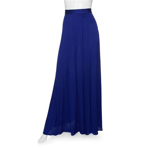 zoe venessa maxi skirt in blue royal blue lyst