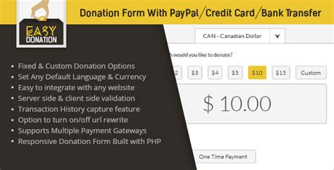 credit card donation form template easydonation form paypal credit card bank transfer on behance