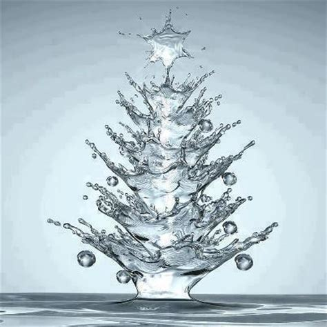 christmas tree shaped water drop resapiens
