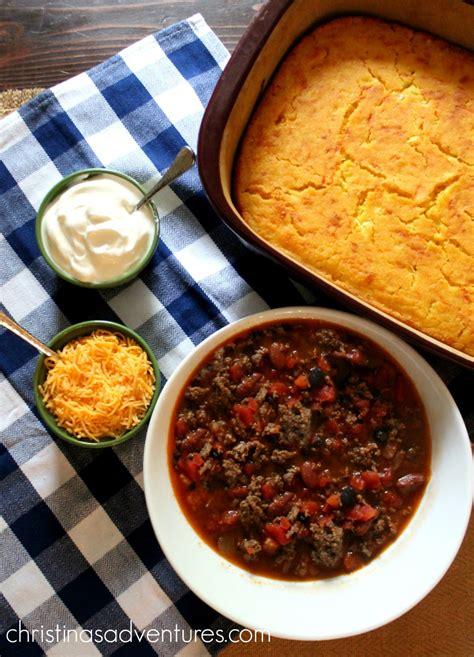 award winning chili on pinterest the best chili cornbread you ll ever eat christinas