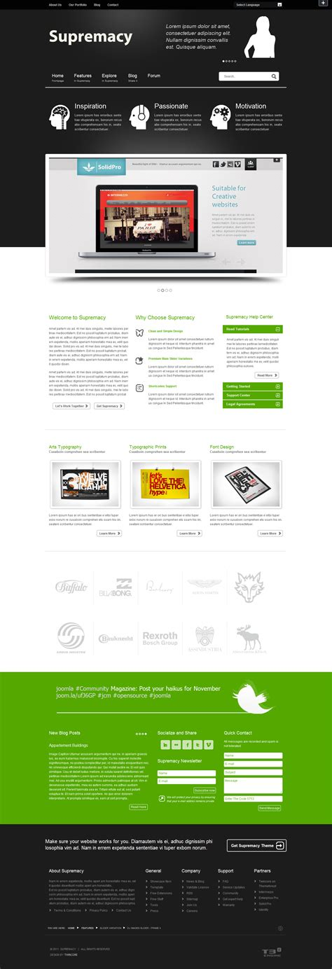 themes joomla premium supremacy premium joomla template by twincore themeforest