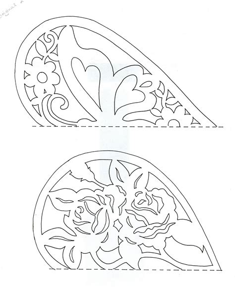 easy paper cutting patterns the top one has the