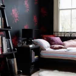 Bedroom with black wallpaper bedroom wallpapers feature wallpapers