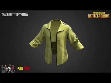 pubg yellow tracksuit top yellow pubg item showcase youtube