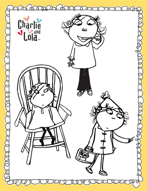 charlie lola free colouring pages