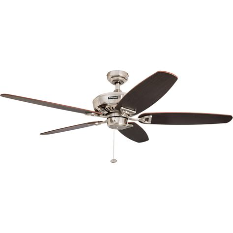 ceiling fans nickel finish honeywell belmar ceiling fan brushed nickel finish 52