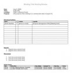 free meeting minutes template derek huether