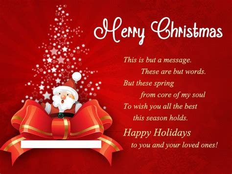 Merry Christmas Gift Card Messages - merry christmas wishes loved ones merry christmas happy new year 2018 quotes