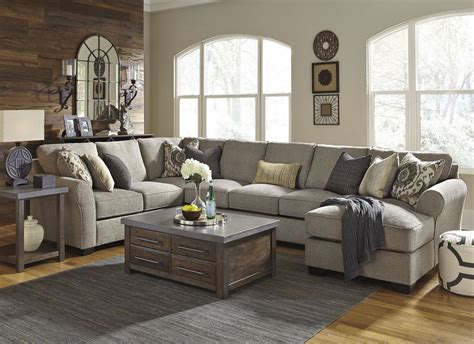 Large Sectional by Pantomine Driftwood Raf Large Chaise Sectional From