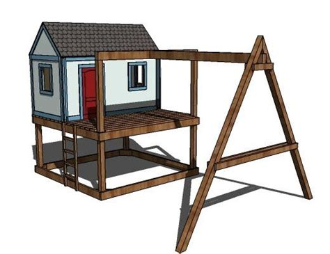 ana white build    build  swing set   playhouse   easy diy project
