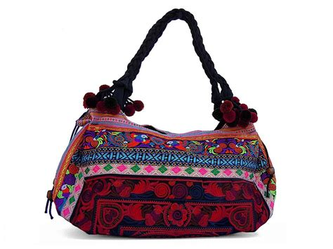 Handmade Bag - large embroidered handmade hmong tote bag purse thailand