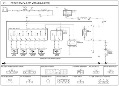 diagram 2005 kia sedona power seat motors seat auto