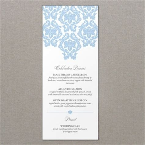 french damask wedding menu template template french and