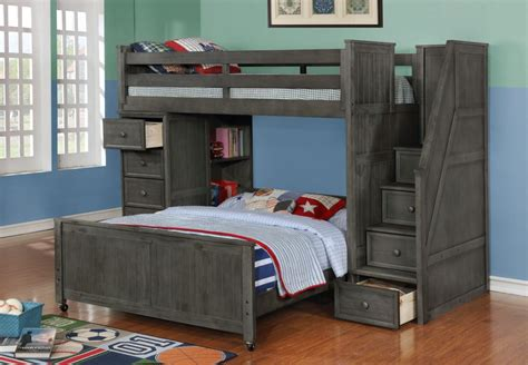 Bunk Beds Furniture by Introducing Weathered Grey Bedroom Furniture