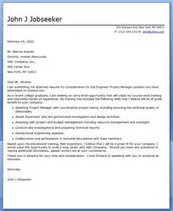 Project Coordinator Cover Letter Exle by Cover Letter Engineer Project Manager Resume Downloads