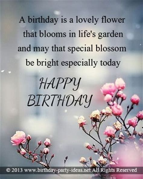 special messages a birthday is a lovely flower that blooms in s garden