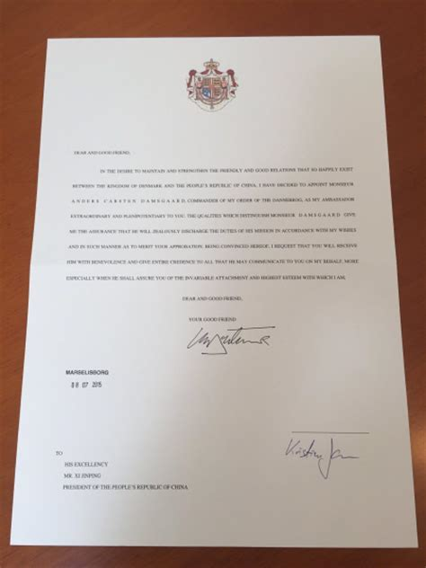 Closing Letter In Swedish New Ambassador Presented His Credentials To President Scandasia