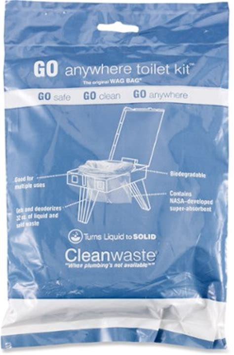 cleanwaste wag bag toilet in a bag waste kit rei.com
