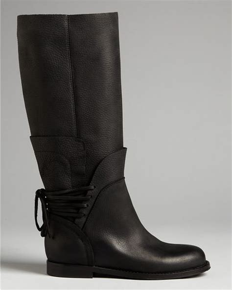 Flat Kelsey vera wang lavender flat boots kelsey in black lyst