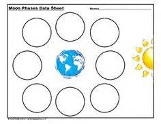 free printable moon phases worksheets calendar template 2016