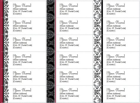 free printable return address labels templates avery address labels template beepmunk