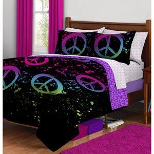 amazon com black purple pink peace sign twin girls