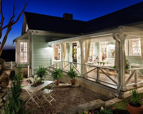 back porch ideas for houses renovated 1800s farmhouse in austin railing design