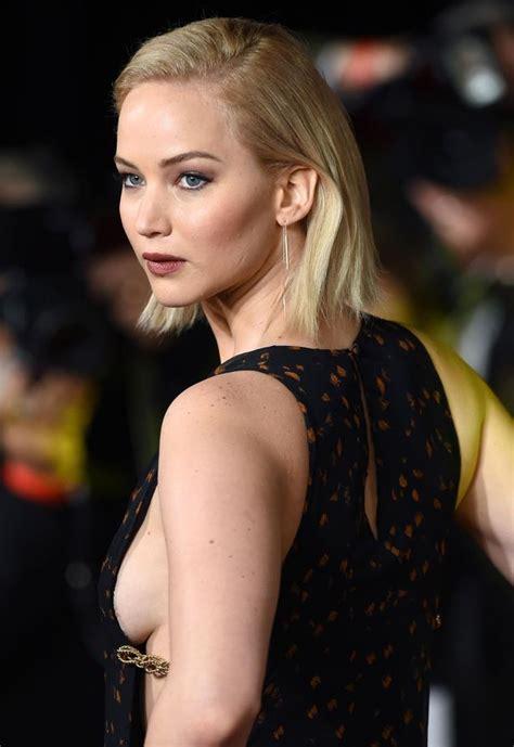 Jennifer Lawrence flashes side  in striking dress as she leads stars for Hunger Games London