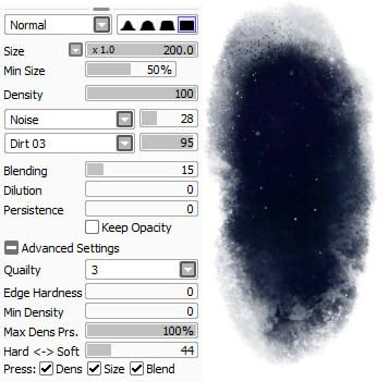 paint tool sai water brush settings paint tool sai brushes