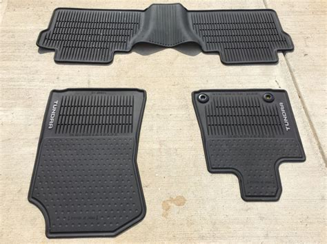 Floor Mats For Toyota by Toyota Tundra Oem All Weather Floor Mats Set In